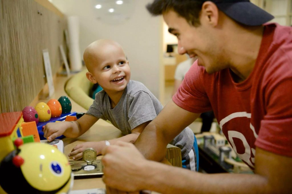 The Andrew McDonough B+ (Be Positive) Foundation childhood cancer non profit photo by the gold hope project