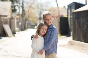 Free photos for pediatric cancer patients siblings hugging photo by The Gold Hope Project